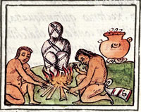 Pic 5: Burning a corpse; Florentine Codex Book III