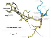 Pic 8: Cave map (redrawn from McKenzie, Riddell and Wiley, 1974)