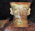 Pic 14: Group.1d – Tlaloc bi-conical ceramic censer