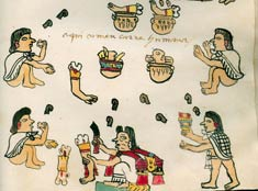 Pic 2: Cannibalism depicted in the Codex Tudela, fol. 64