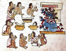 Pic 3: Cannibalism depicted in the Codex Magliabechiano, fol. 73