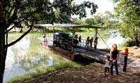 Pic 8: If you don't have a cayuko, a picturesque hand-operated ferry built in the 1950s, can take you (and your vehicle) across the Mopan River