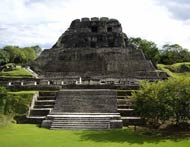 "Pic 9: ""El Castillo"" pyramid at Xunantunich. The first modern explorations of the site were conducted by Thomas Gann in the mid-1890s"