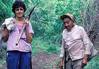Pic 14: Rosita and Don Elijio searching for medicinal plants. Panti passed onto the white road to Xibalba in 1996, at the age of 101