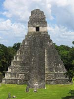 Pic 17: Temple 1, Tikal, viewed across the main plaza from Temple II