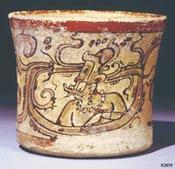Pic 2: Hurakán (K'awiil) appears on a Late Classic Maya vase, No. K2970 in the Justin Kerr Maya Vase Database