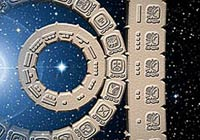 Pic 4: The date 4 Ajaw 3 Kank'in (for Dec. 21, 2012) - graphic showing combination of Tzolk'in and Haab' dates