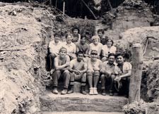 Pic 13: Kitty Emery with fellow archaeology students at the field school in Belize, 1984