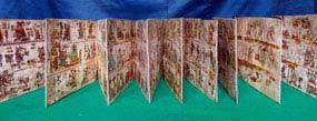 Pic 5: The Colombino Codex (replica) - the only pre-Hispanic codex conserved in Mexico