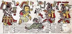 Pic 8: Sacrifice of a dog; Codex Nuttall, plate 17 (detail)