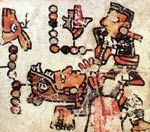Pic 10: Sacrifice of Eight Deer; Codex Bodley, plate 14 (detail)