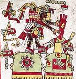 Imagen 11.-Sacrificio por extracción de corazón de un hombre de piedra (Códice Nuttall, 3)