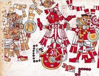 Pic 12: Sacrifice of Ten Dog; Codex Nuttall, plate 89 (detail)