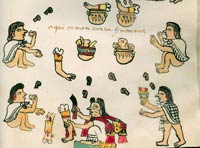 Pic 6: Mexica cannibalism depicted in the (post-invasion) Codex Tudela, fol. 64