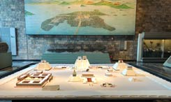 Model of the Sacred Precinct of Tenochtitlan, National Museum of Anthropology, Mexico City; photo by/courtesy of Gilbert Estrada