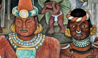 Pic 5: Detail from a mural by Diego Rivera, Palacio Nacional, Mexico City