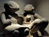 Pic 13: Stone sculpture of an elderly couple, National Museum of Anthropology, Mexico City