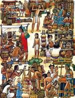 Artist's impression of the Tlatelolco market by Felipe Dávalos