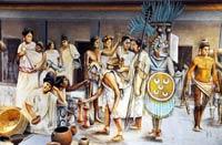 Part of a large model of the Tlatelolco market in the Museo Nacional de Antropología, Mexico City