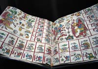 Pic 3: A replica of the Codex Borbonicus on display in the Museo Nacional de Antropología, Mexico City