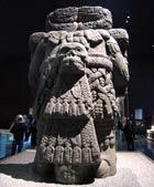 Pic 11: Monumental stone sculpture of Coatlicue, Museo Nacional de Antropología, Mexico City