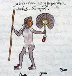 Pic 4: A Mexica constable bearing staff and feather fan; Codex Mendoza fol. 66r (detail)