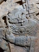 Pic 7: Detail from Yaxchilan Lintel no. 24, British Museum, showing Lady Xoc in a bloodletting ritual