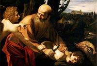 Pic 13: Sacrifice of Isaac by Caravaggio, Uffizi Palace, Florence
