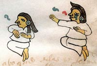 Professional Aztec mourners; Codex Tudela fol. 52 (detail)
