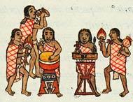 Aztec musicians, Florentine Codex Book VIII