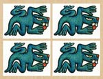 The lizard - Aztec daysign number 4 and archetypal symbol of the number