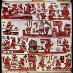 Pic 6: Page 14 from the Codex Selden (original in the Bodleian Library, Oxford), a Mixtec codex in which several marriage alliances feature