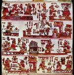 Pic 6: Página 14 del Códice Selden (original en la Biblioteca Bodleian, Oxford); este códice mixteco contiene varias alianzas matrimoniales