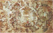 Pic 8: Another fragment of the Codex García Granados (National Library of Anthropology and History, Mexico City), placed immediately before the Genealogical Nopal and showing the Lords of Azcapotzalco and the places dependent on it