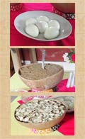 Pic 4: (Top) hardboiled eggs; (centre) ground corn kernels (toasted), cinnamon and anise; (bottom) (toasted) gourd seeds