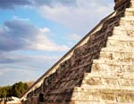 Pic 7: The famous shadow of a serpent descending the Pyramid of the Feather Serpent at Chichen Itzá