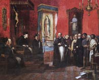 Pic 4: Boturini presents his case for the crowning of the Virgin of Guadalupe