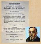 Pic 13: Antonio de León y Gama, with the title page of his classic book 'Descripción histórica y cronológica de las dos piedras....'
