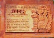 Pic 16: A commemorative plaque to Aubin in the village of his birth, Tourrettes-les-Fayence, Le Var, SE France