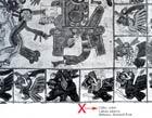 Pic 17: An image from the Tonalamat de Aubin, mistakenly identified as the Codex Aubin - 'La Pintura Mural de la Revolución Mexicana', 1975, p. 17