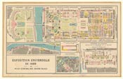 Pic 19: Plan of the main exhibition areas, Exposition Universelle, Paris, 1889