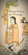 Ixtlilxochitl II of Tetzcoco, as depicted in the 'Lienzo de Tlaxcala', fol. 41 (detail)