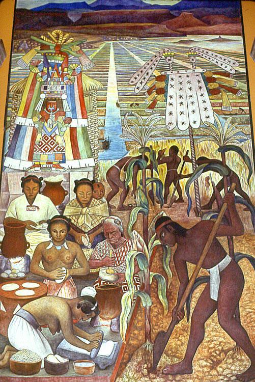 Portrait Of Aztec Life Process