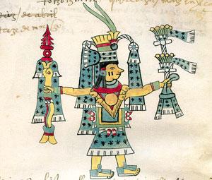 Pic 1: Chalchiuhtlicue in the Codex Tudela