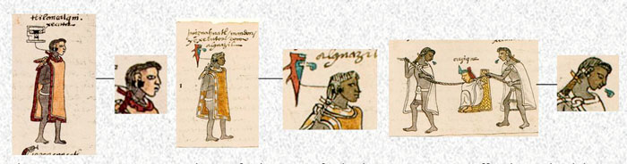 Pic 3: Examples of earplugs in the Codex Mendoza