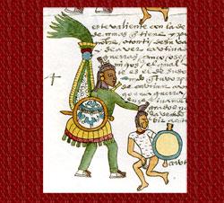 Pic 5: Otomí rank warrior, Codex Mendoza