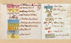 The 13 'heavens' and 9 underworlds, Codex Vaticanus-Latinus 3738, pls 1&2