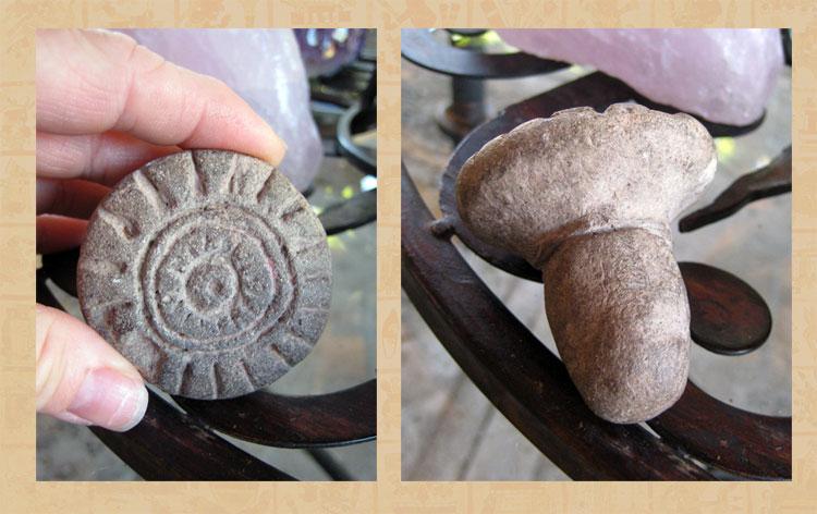 Small round 'sun' stamp