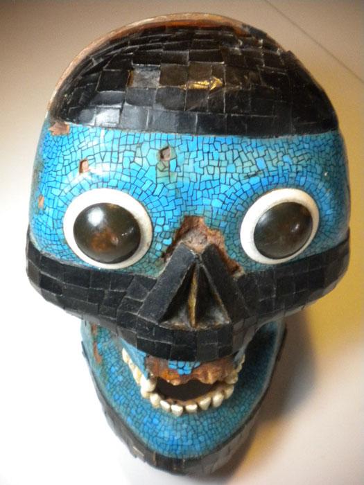 Turquoise Skull Mask