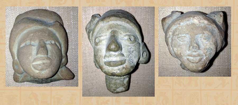 3 'dolls' heads